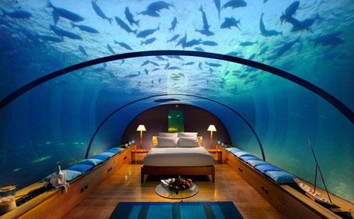 رستوران زیر دریایی، جزیره ی رنگالی در کونراد مالدیو
