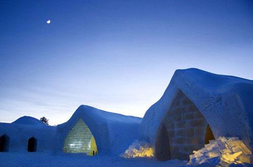 هتل برفی در قطب شمال