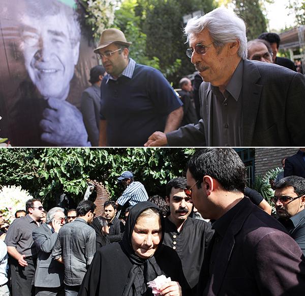 تصاویر تشییع پدر تئاتر ایران از گریه عزتالله انتظامی و فریاد و ...