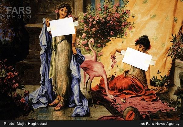 (تصاویر) سانسور برخی تابلوها در جشنوارهفرش