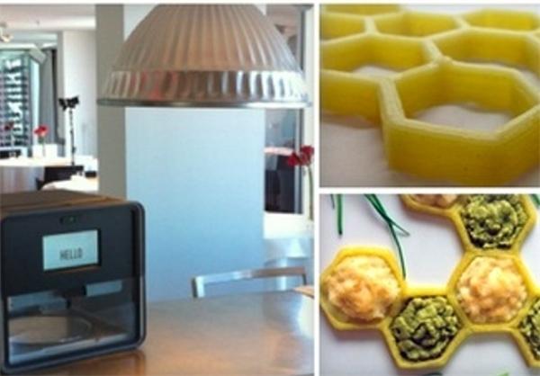 پرینتر سه بعدی که غذا میپزد