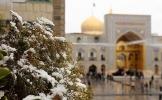 (تصاویر) بارش برف بهاری در حرم رضوی