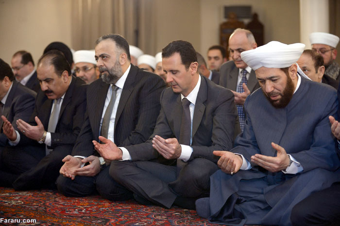 (تصاویر) بشار اسد در جشن میلاد پیامبر(ص)