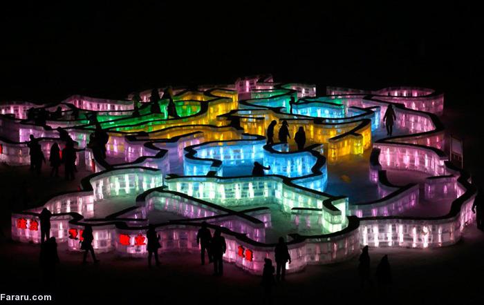 (تصاویر) جشنواره یخ و برف در چین