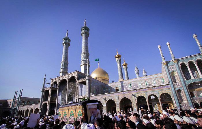 (تصاویر) تشییع آیتالله انصاری شیرازی