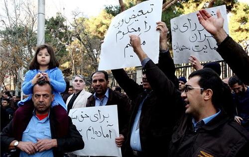 (تصاویر) تجمع اتوبوسرانان تهران