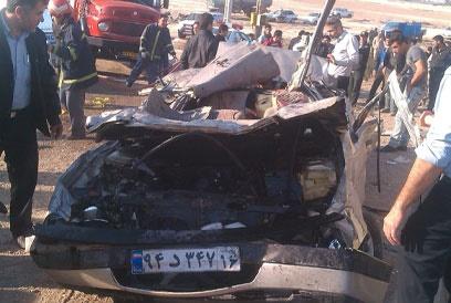 (تصاویر) حادثه رانندگی هولناک در قم