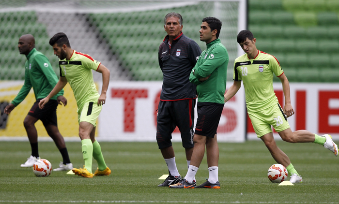 (تصاویر) تمرین تیمملی برای بازی با بحرین