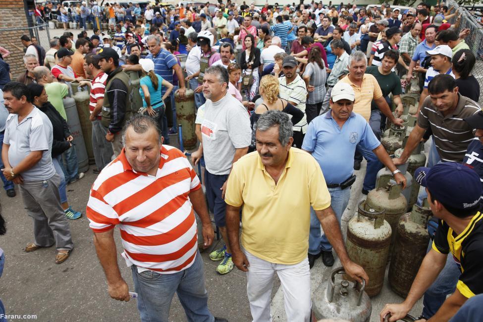 (تصاویر) صفوف خرید مایحتاج زندگی در ونزوئلا