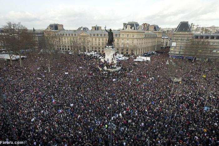 (تصاویر) راهپیمایی اتحاد در پاریس