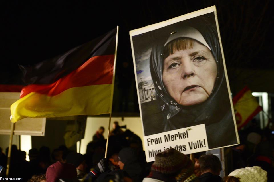 (تصاویر) تظاهرات ضد اسلامی در آلمان