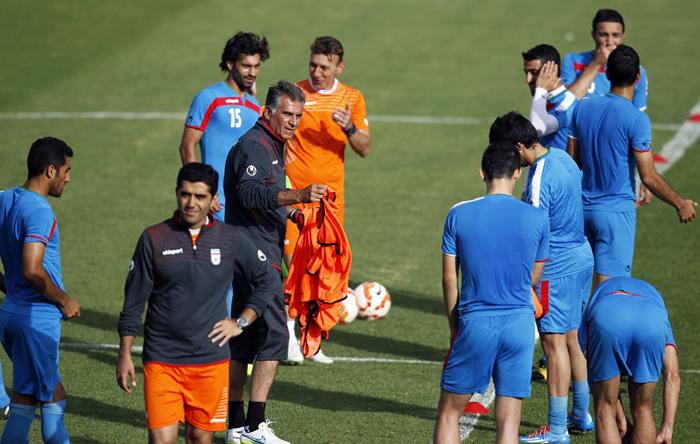 (تصاویر) تمرین تیم ملی برای بازی با قطر