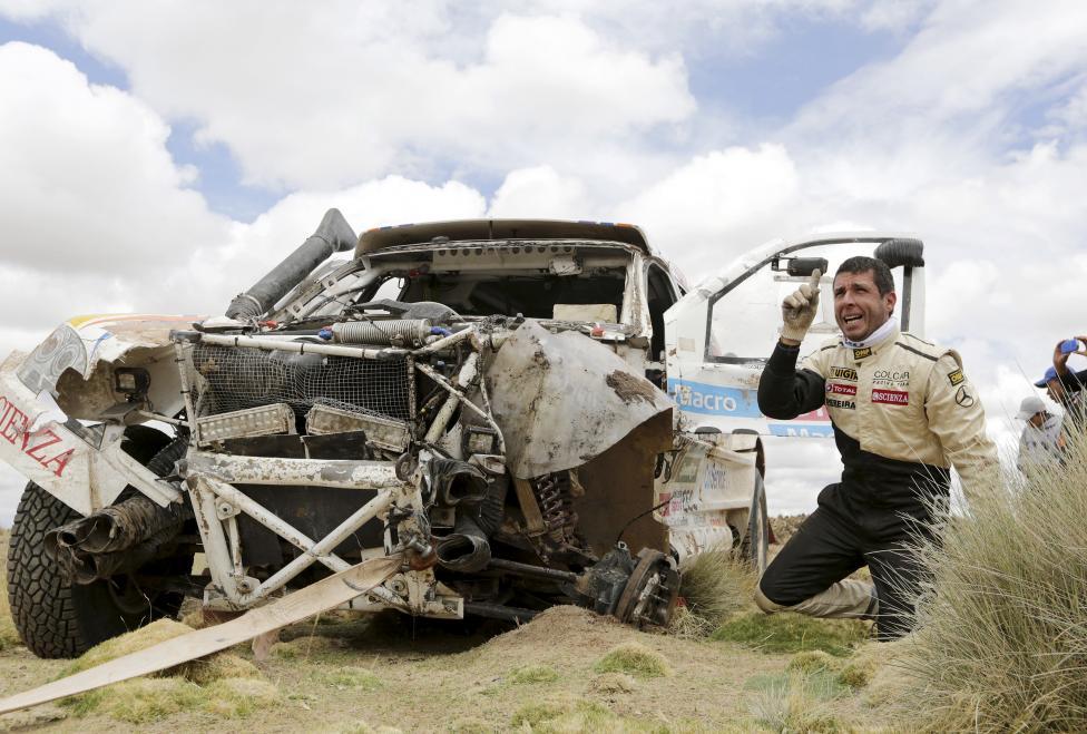 (تصاویر؟) حادثه در جریان رالی داکار
