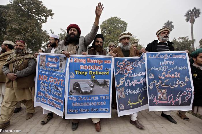 (تصاویر) راهپیمایی حامیان حمله به «شارلیابدو»
