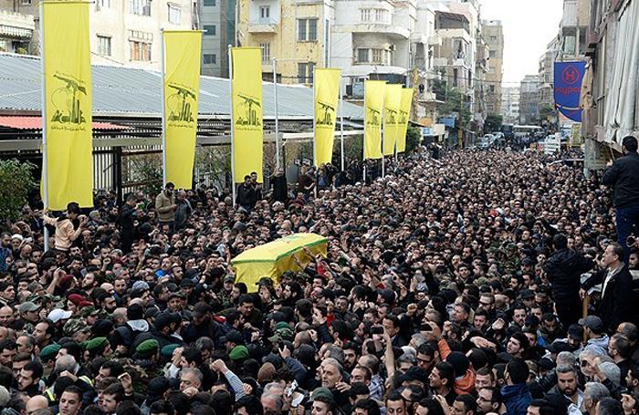 (تصاویر) مراسم تشییع «جهاد مغنیه»