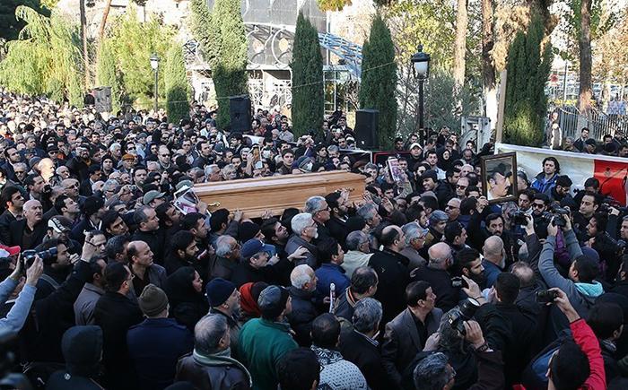 (تصاویر) مراسم تشییع مرتضی احمدی