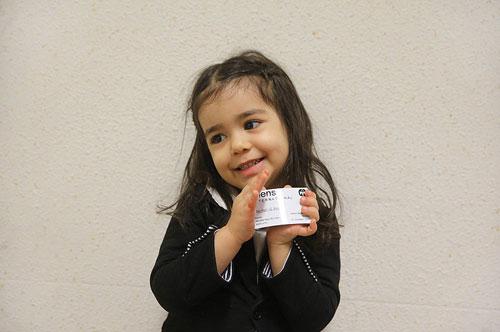 دختر سه ساله ایرانی در جمع اعضای انجمن جهانی تیزهوشان