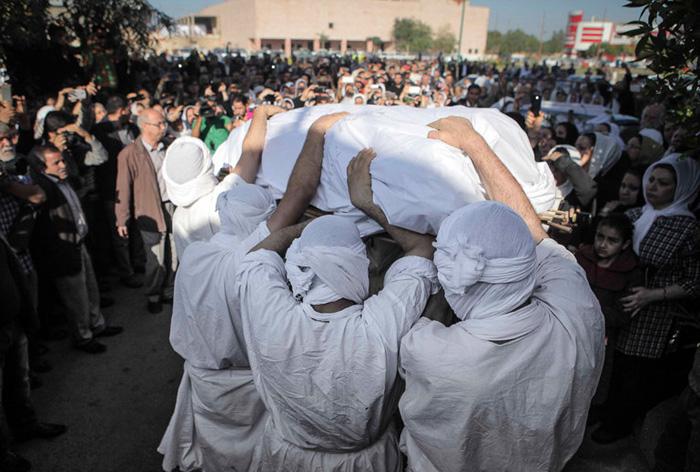(تصاویر) خاکسپاری رهبر صابئین ایران