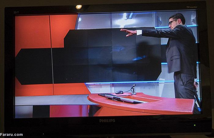 (تصاویر) ورود مرد مسلح به استودیوی خبر حین پخش زنده
