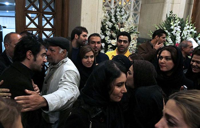 (تصاویر) هنرمندان در ترحیم پدر شهاب حسینی
