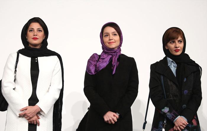 نازنین بیاتی و طناز طباطبایی در اکران فیلم رخ دیوانه در جشنواره فجر