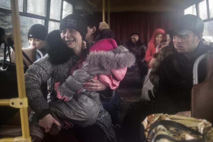 (تصاویر) فرار از شرق اوکراین
