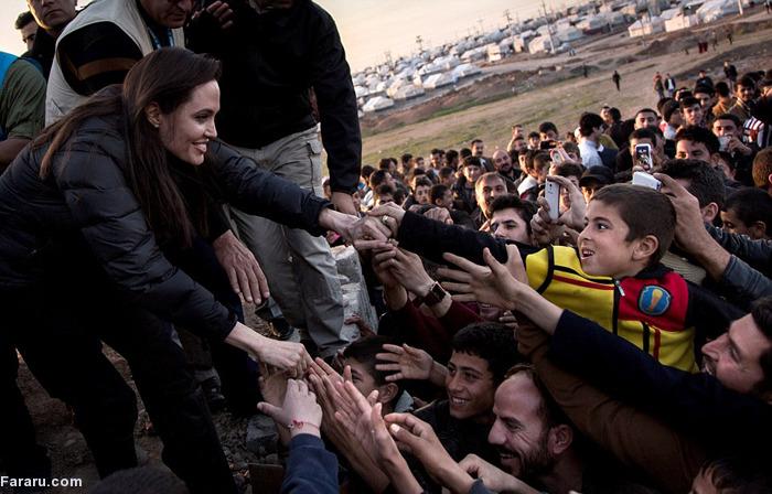 (تصاویر) آنجلینا جولی در کردستان عراق