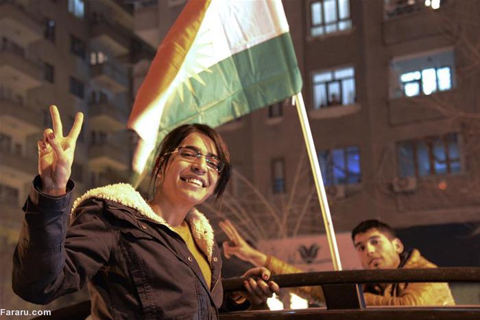 (تصاویر) جشن آزادی کوبانی