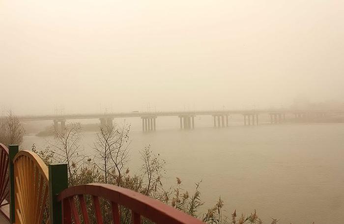 (تصاویر) گرد و غبار شدید در خوزستان