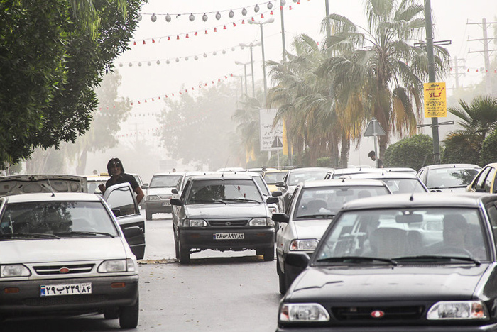 (تصاویر) گرد و غبار در بندرعباس