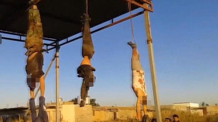 (تصاویر) آویختن 8 مرد از سردر کرکوک