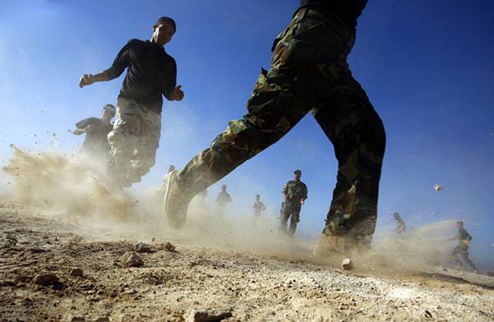(تصاویر) آموزش داوطلبان از اعزام به تکریت