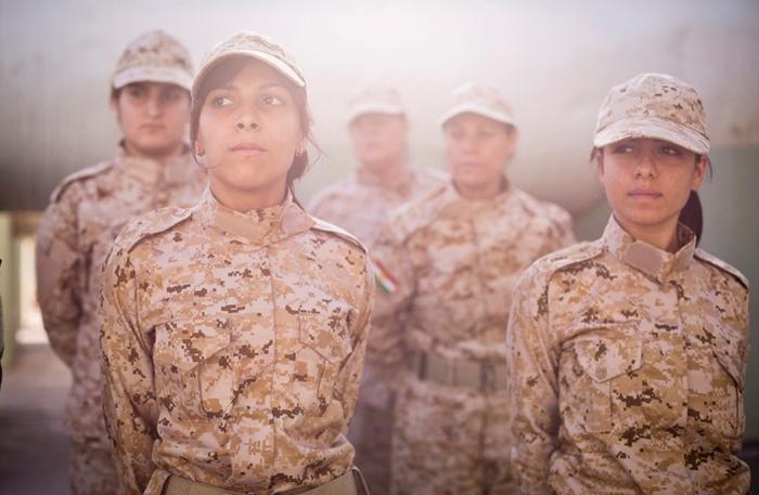(تصاویر) پادگان آموزشی زنان کرد در سلیمانیه
