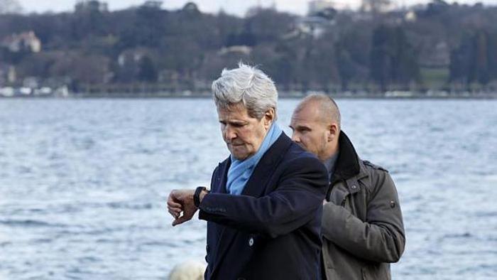 (تصاویر) دیدار ظریف و صالحی با کری