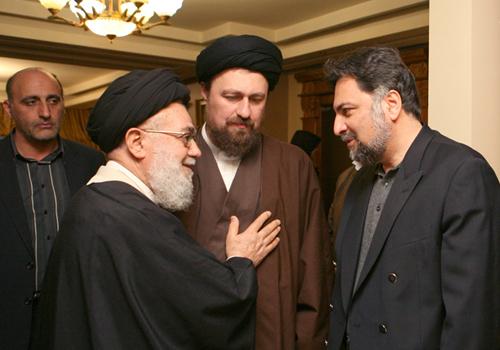 (تصاویر) مهدی هاشمی و موسوی خوئینیها در منزل صادق طباطبائی