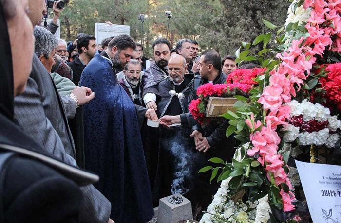 (تصاویر) تشییع و خاکسپاری زاون قوکاسیان