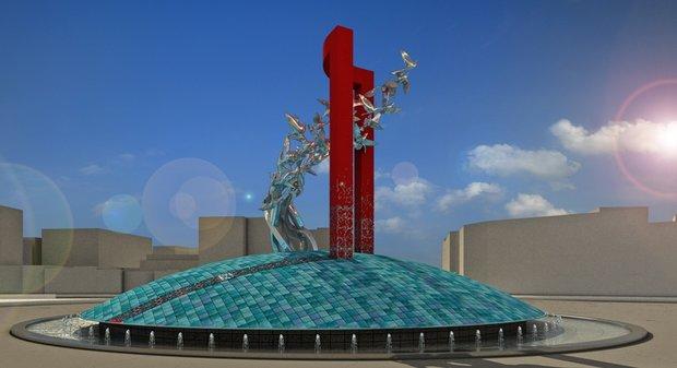 رونمایی از طرح نماد حجمی میدان انقلاب