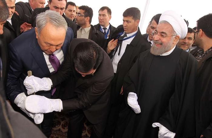 (تصاویر) افتتاح خطآهن ایران-ترکمنستان-قزاقستان