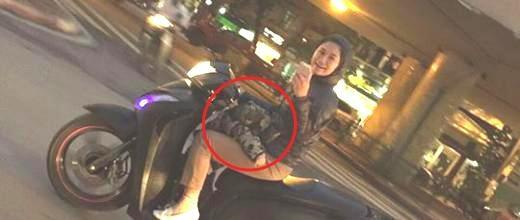 جنجال عکس گرفتن زن موتورسوار از دیوید بکهام