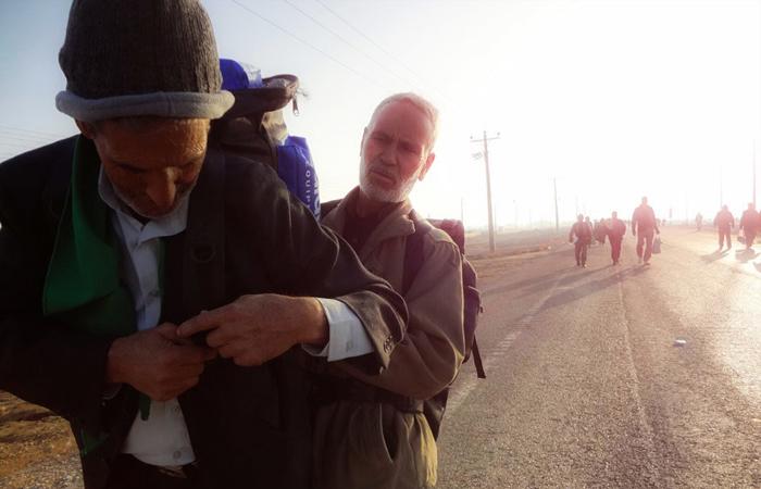 (تصاویر) تجمع زائران اربعین در مرز شلمچه