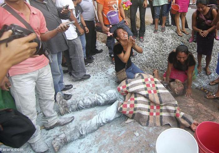 (تصاویر) خودسوزی معترض مکزیکی