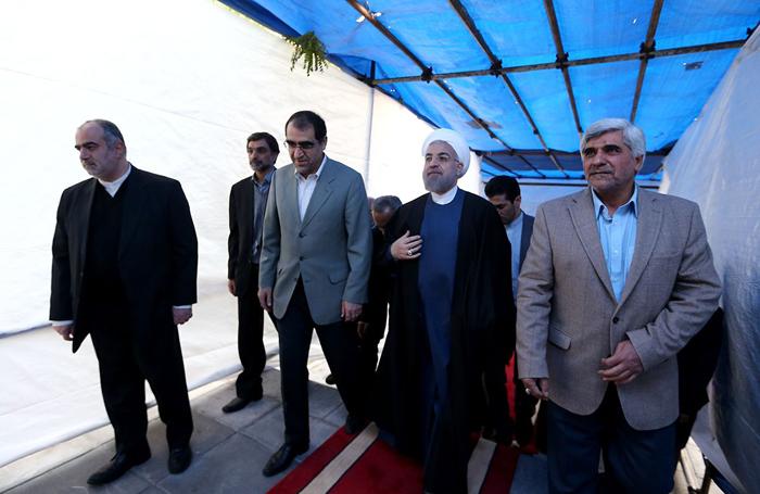 (تصاویر) روحانی در مراسم روز دانشجو