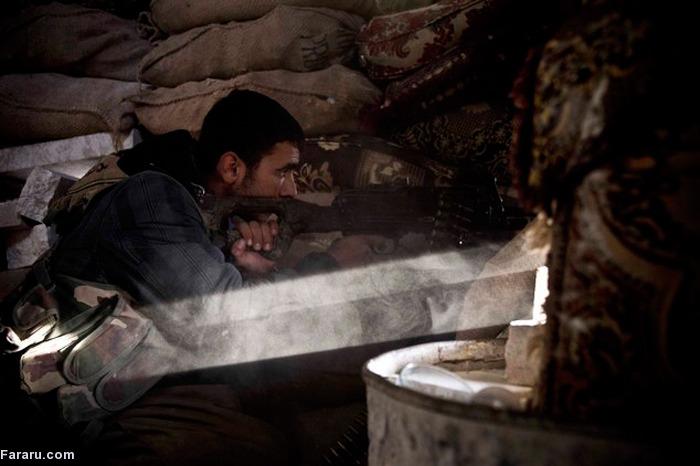 (تصاویر) مقاومت زنان و مردان کرد در کوبانی