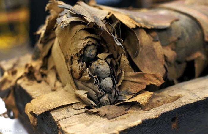 (تصاویر) تابوت مومیایی 2500ساله بازشد