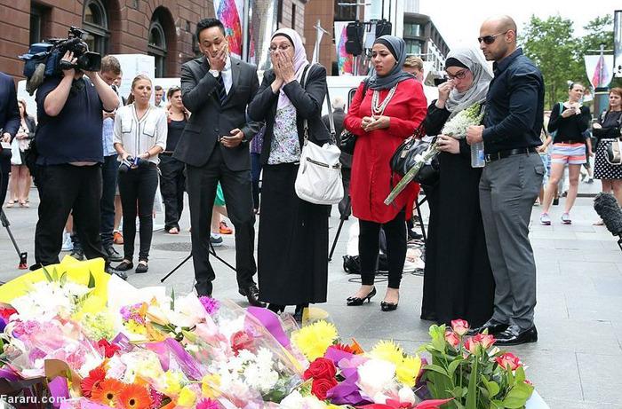 (تصاویر) مسلمانان در یادبود قربانیان گروگانگیری