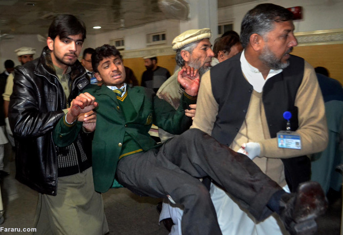 (تصاویر) حمله خونین طالبان به یک مدرسه