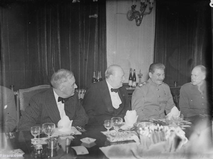 (تصاویر) سران متفقین در کنفرانس تهران