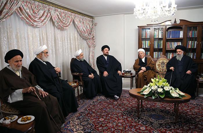 (تصاویر) مسئولان و مقامات در منزل روحانی