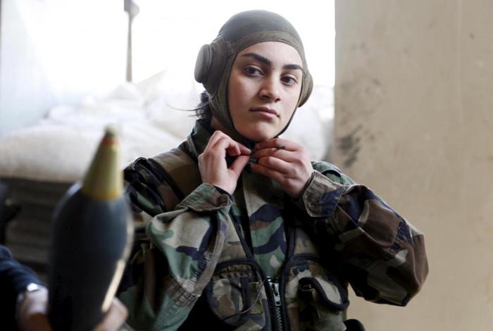 (تصاویر) زنان کماندوی وفادر به اسد