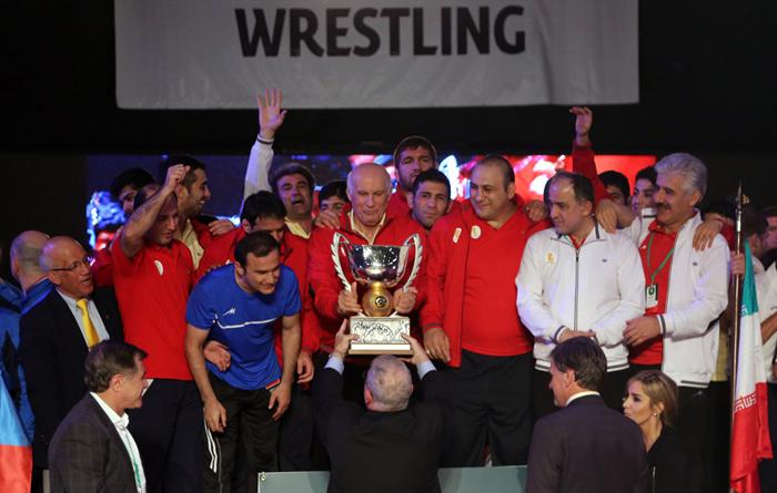 (تصاویر) قهرمانی تیم ملی کشتی آزاد